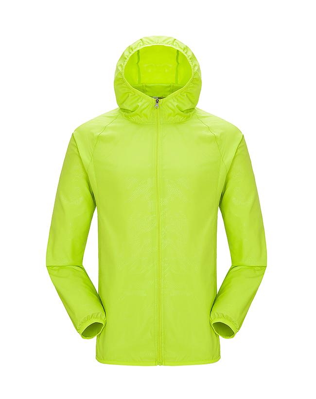 KW780-皮肤衣(荧光绿)广告文化衫风衣定制
